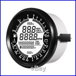 999MPH 85mm Car Boat GPS Speedometer Tachometer Oil Pressure Odometer Gauge 7IN1
