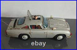 ASC (Japan) Battery Operated ASTON MARTIN DB-5 JAMES BOND 007 Tin Toy 1960s