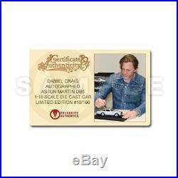 ASTON MARTIN DB5-BOND 007 CAR-DANIEL CRAIG SIGNED-118 SCALE DIECAST-NEWithOOP