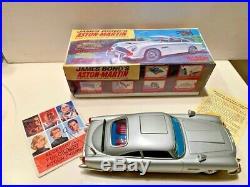 ASTON MARTIN DB5 JAMES BOND GILBERT TOY CAR -NEW OLD STOCK C/W BOX large