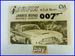 Airfix James Bond 007 Aston Martin Db-5 1/24 Model Complete Unpainted