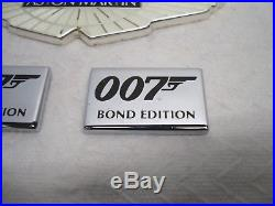 Aston Martin 007 Bond Edition Emblem Badge Set Kit Oem