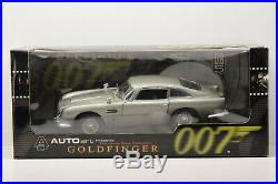 Aston Martin Db5 James Bond 007 Goldfinger Autoart 1/18 Neuve En Boite