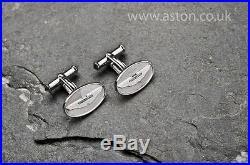 Aston Martin Oval Cufflinks, Gift, Anthony Holt 925 Sterling Silver Bond 007