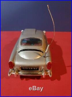 Battery Operated James Bond Aston Martin Tin Toy Gilbert tested