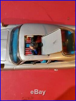 Battery Operated James Bond Aston Martin Tin Toy Gilbert tested