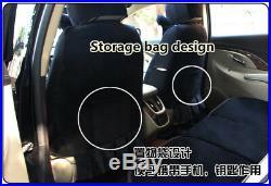 Baymax Cartoon Winter Super Soft Plush Full Car Seat Cushion Universal Fit Black