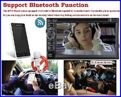 Bluetooth Radio Double 2 Din 6.2 Car Stereo CD DVD Player HD AUX& Backup Camera