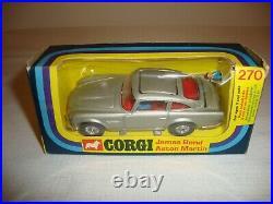 CORGI 270 JAMES BOND ASTON MARTIN DB5 NR MINT in original BOX