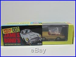 CORGI TOYS, JAMES BOND'S 007, TWO ASTON MARTIN DB5 in BOTH GOLD & SILVER, #04204