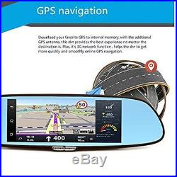 Car 3G 1080P DVR Car Video Rearview Mirror Wifi GPS Dual Lens Dash Cam Recorder