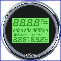 Car 85mm GPS Speedometer Odometer Fuel Level Oil Pressure Gauge Water TEMP Meter