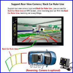 Car GPS Navi 7Quad Core Android 6.0 Mirror Double 2Din Stereo WiFi Radio+Camera