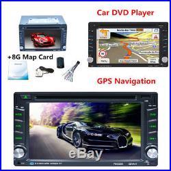 Car GPS Navigation 6.2inch 2DIN Car In Dash Radio Stereo Bluetooth DVD CD Player