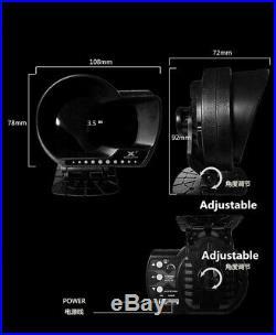 Car OBD2 Gauge HD LCD Screen HUD Head-Up Water/Oil Temp Digital Display Sensor