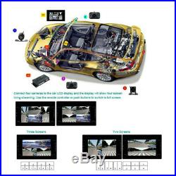 Car RV 360° Full Parking View withFront/Rear/Right/Left 4 Camera DVR Video Monitor