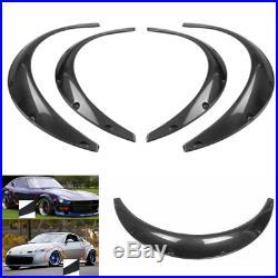 Carbon Fiber Style 4 PCS Car Auto Polyurethane Flexible Exterior Fender Flares
