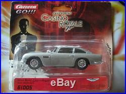 Carrera GO 61005 James Bond Auto 007 Aston Martin DB5S 1962 Goldfinger rar