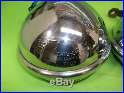 Cats Eye Vintage Glass Lens Fog Lights Rat Rod Custom