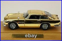 Cert No. 46 -Danbury Mint JAMES BOND 007 Aston Martin DB5 1/24 Model Car & Case