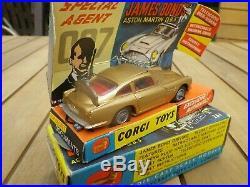 Corgi 261 Aston 007 James Bond Proche Du Neuf Superbe Boite D'origine + Document