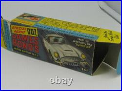 Corgi 261 Gold James Bond 007 Aston Martin D. B. 5 Exc A+ Rare Original Boxed 1965