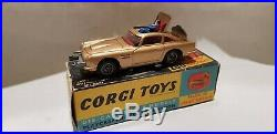 Corgi 261 James Bond 007 Aston Martin Db5 1965. Original Boxes