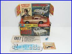 Corgi 261 James Bond Aston Martin DB5 BOXED withaccessories original