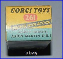 Corgi 261 James Bond Aston Martin VNM sealed instructions