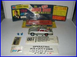 Corgi 270 James Bond Aston Martin All Original fully working set, Rare Set