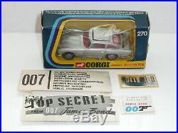 Corgi 270 James Bond Aston Martin DB5 NrMint Boxed withaccessories original