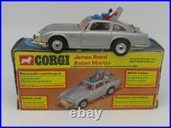Corgi 270 James Bond Aston Martin Db5 007 1977 Vnmint Boxed Original Made In Uk