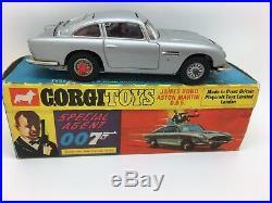 Corgi 270 James Bond Aston Martin Db5, Light Blue Box, Original Car, Mint Boxed