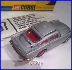 Corgi 270 James Bond Aston Martin Db5 Silver New Mib+mint Box 1973 Issue Vintage