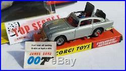 Corgi 270 James Bond Aston Martin Db5 Wing Back /bubble Box