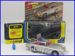 Corgi 271 A1 James Bond 007 Aston Martin D. B. 5 Rare Uk Window Box Vnmint 1977/80