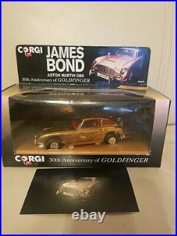 Corgi 96445 James Bond GOLD Aston Martin DB5 (Goldfinger) Ltd Edit MINT
