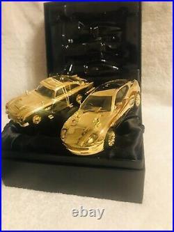 Corgi CC99171 James Bond Aston Martin DB5 & V12 Vanquish Gold Plate 4952
