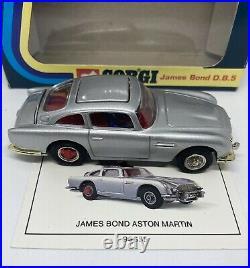 Corgi James Bond 007 Aston Martin DB5 In Box Rare Vintage 1995 (FREE SHIPPING)