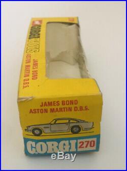 Corgi James Bond 270 Aston Martin 2nd Issue Rare Slim Line Outer Box