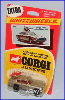 Corgi Juniors #1001 James Bond Aston Martin Db6 Vintage 1970 Black Wheels Moc