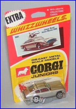 Corgi Juniors #1001 James Bond Aston Martin Db6 Vintage 1970 Chrome Wheels Moc