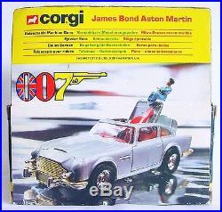 Corgi Toys 136 JAMES BOND 007 ASTON MARTIN DB. 5 + 2x Villain #271 NMIB`77 RARE