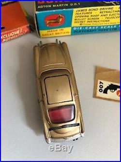 Corgi Toys 1965 James Bond 007 Aston Martin DB5 261 Goldfinger all Original Box