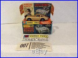 Corgi Toys 261 James Bond Aston Martin DB5 With Sealed Secret Instruction