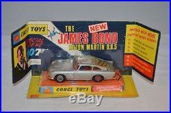 Corgi Toys 270 James Bond Aston Martin D. B. 5. In box with sealed enveloppe