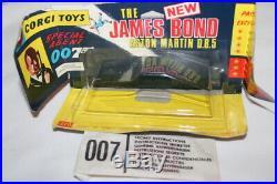 Corgi Toys 270 James Bond Silver Scarce. Dark Red Interior
