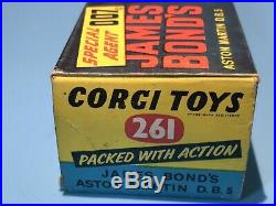 Corgi Toys Vintage 261 Bond 007 Aston Martin Db5 Original Outer Box Excellent