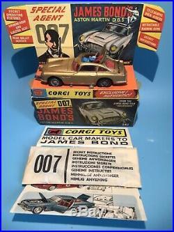 Corgi Toys Vintage 261 James Bond 007 Db5 Aston Martin Boxed & Sealed Envelope