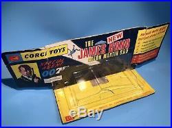 Corgi Toys Vintage 270 Bond 007 Aston Martin Db5 Rare Winged Vac Bubble Pack Box